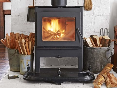Operate a wood-burning stove